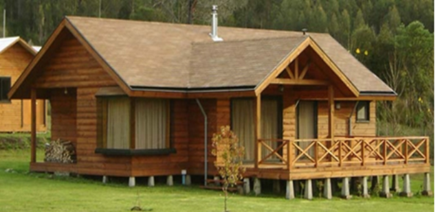 Casa pefabricada gultro 68 m2 casas prefabricadas for Precios de cabanas prefabricadas